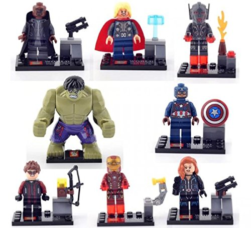 Avengers 2 Age of Ultron Building Bricks Block Sets Education Toys PVC Action Mini Figures 8 Pcs/Set # 271-04