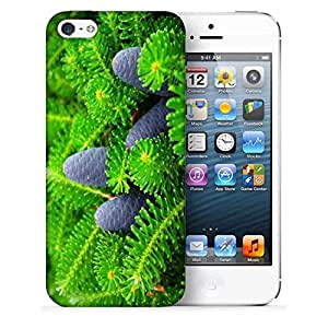 Snoogg Black Fruit Printed Protective Phone Back Case Cover For Apple Iphone 5 / 5S