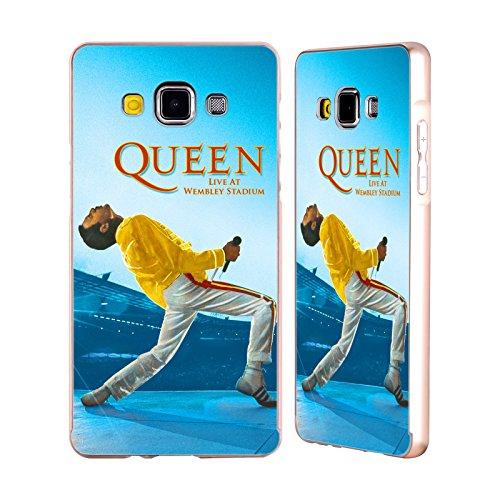 Ufficiale Queen Freddie Mercury Live At Wembley Arte Chiave Oro Cover Contorno con Bumper in Alluminio per Samsung Galaxy A5