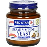 Red Star Bread Machine Yeast, 4-Ounce Jars (Pack of 3)