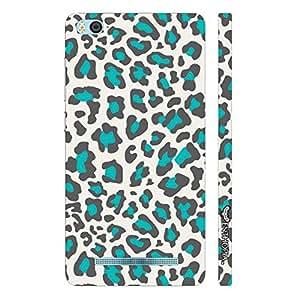 Xiaomi 4i White & Blue Cheetah designer mobile hard shell case by Enthopia