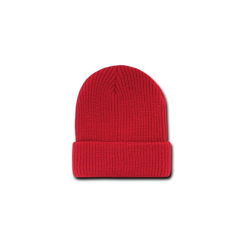 c749739d217 by Decky Red Knit Long Beanie GI Jeep Watch Cap Hat on PopScreen