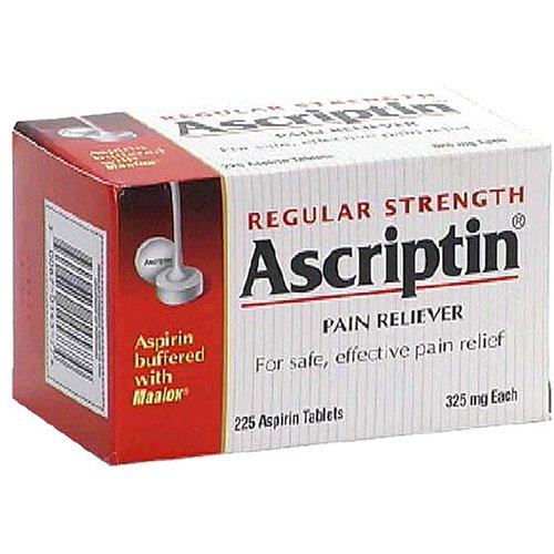 Buy Ascriptin Pain Reliever Aspirin Tablets Buffered with Maalox, Regular Strength, 325 mg, 225-Count Bottles (Pack of 2) (Ascriptin, Health & Personal Care, Products, Health Care, Pain Relievers, Aspirin)