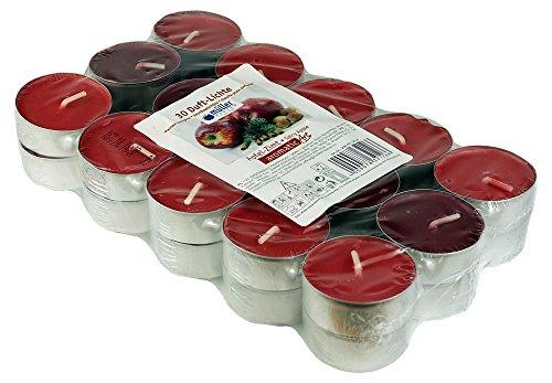 30 candele colorate e profumate - candeline, 4 ore di combustione,fragranza: mela - cannella - Mix, prodotto di marca di Müller