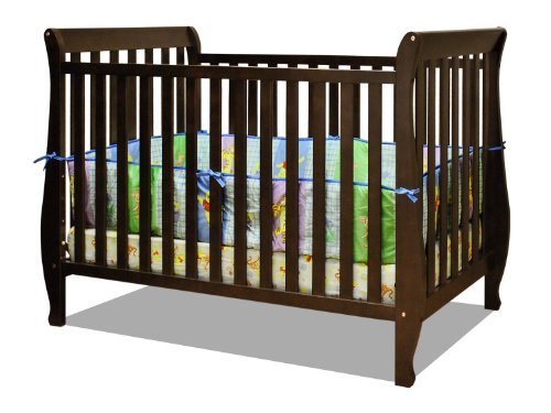Best Review Of Athena Naomi 4 in 1 Crib with Toddler Rail, Espresso
