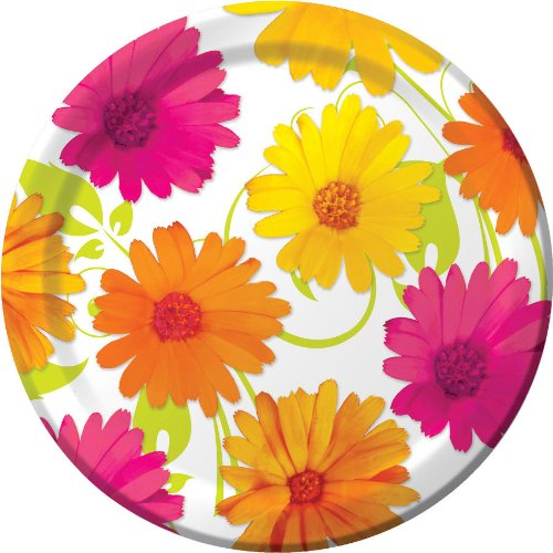 Daisy Scroll Dessert Plates - 1