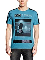 Guess Camiseta Manga Corta Two 2 Tango (Turquesa)