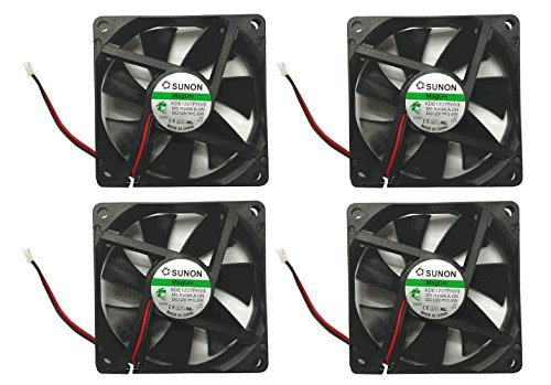 Sunon 70x70x15mm KDE1207PHV3 2Pin/2Wire 12v Low Speed Fan (4 pack) (Low Speed Fan compare prices)