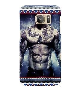 ifasho Designer Phone Back Case Cover Samsung Galaxy S7 :: Samsung Galaxy S7 Duos :: Samsung Galaxy S7 G930F G930 G930Fd ( Skull Man Skull Symbol HellMan )