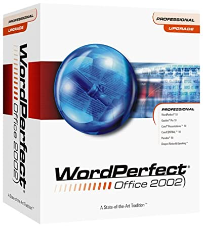 WordPerfect Office 2002 Professional Edition Upgrade