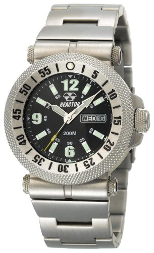 REACTOR Men's 63001 Fallout Black Coral Dial Stainless Steel Watch