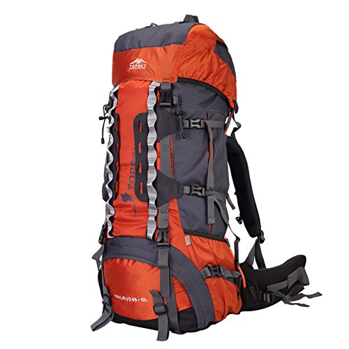 Sac d'escalade en plein air / grand sac à dos de la capacité / sac à dos de randonnée-Orange 1 75L