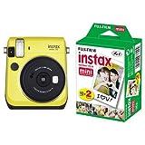 FUJIFILM インスタントカメラ チェキ instax mini70 イエロー + チェキ用フィルム 20枚入 セット