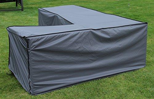 Schutzhlle-Cover-Eckbank-Grau-235-x-235-x-70100-cm-L-x-B-x-H-Waterproof-SORARA-Polyester-PU-Coating-UV-50-Premium-Abdeckhaube-Wettershutz-Regenfest-fr-Outdoor-Garten-Mbel