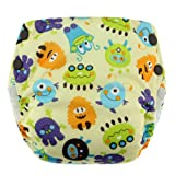 Blueberry Basix All in One Diapers, Monsters, Medium