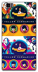 The Racoon Grip yellow submarine hard plastic printed back case / cover for Lenovo K900