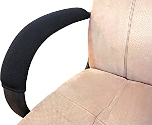 Soft Neoprene Chair Armrest Covers (Complete 2 Piece Set)