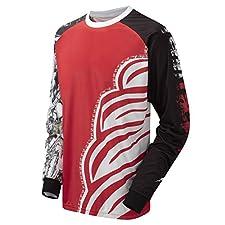 Tenn Mens Rage MTB/Downhill Cycling Jersey - Red - Sml