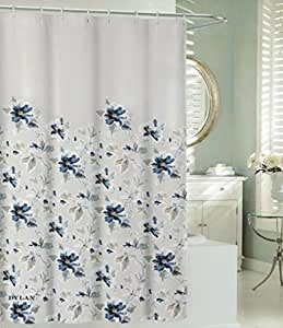 Max Studio Cotton Shower Curtain Botanical Nature Floral Branches