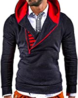 MT Styles - Pullover à capuche - avec fermeture éclair - modèle S-112