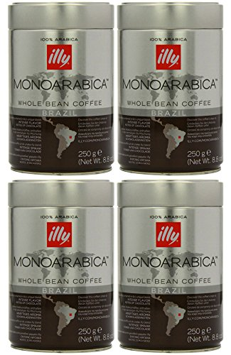 Illy Monoarabica Whole Bean, Single Origin Brazil Coffee Beans 8.8 Ounce (Pack of 4) (Illy Expresso Whole Bean Coffee compare prices)