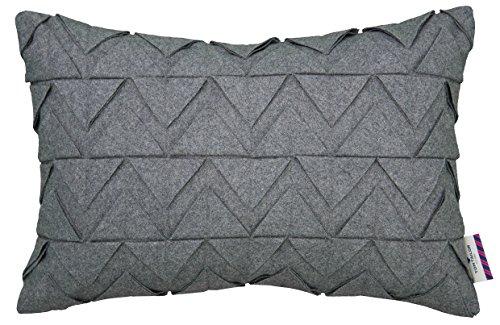 Tom Tailor 564046 Kissenhülle T-Spiky Felt, 30 x 50 cm, Baumwollmischgewebe, grau