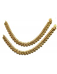 Shingar Ksvk Jewels Antique Gold Plated Payal / Pajeb / Anklet For Women (9723-payal-antique)