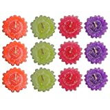PACK OF 36 STAR FLOWER FLOATING CANDLE FOR DIWALI BIRTHDAY PARTY