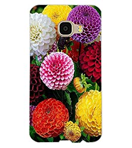 ColourCraft Beautiful Flowers Design Back Case Cover for SAMSUNG GALAXY C5