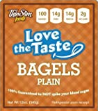 ThinSlim Foods 100 Calorie, 2g Net Carb, Love The Taste Low Carb Plain Bagels