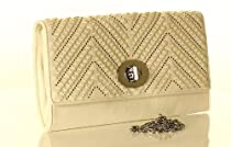Designer Inspired Janice Clutch - White