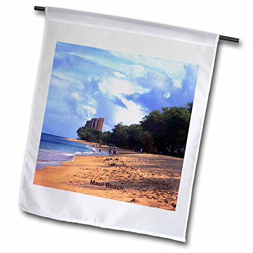 Sandy Mertens Hawaii Travel Designs - Maui Beach - 12 x 18 inch Garden Flag (fl_26340_1)