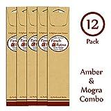 Panchratan Perfumed Charcoal Incense Sticks ( Pack Of 12, 23cms, Amber And Mogra Fragrance )