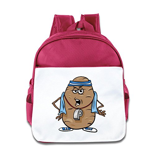 Kid's Cartoon Couch Potato Funny School Backpack Bag For Both Boys And Girls Pink