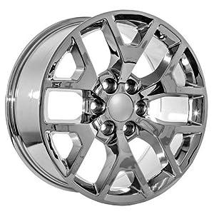 22 inch chrome chevy avalanche colorado lt ls wt 2x4 4x4 wheels rims automotive. Black Bedroom Furniture Sets. Home Design Ideas