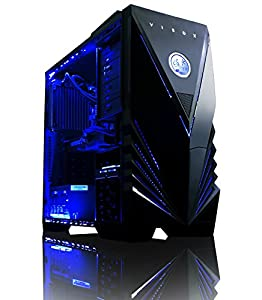 VIBOX Submission 29XL - New 4.2GHz Eight 8-Core, GTX 960, Water Cooled, Extreme Performance, Desktop Gaming PC, Computer with Neon Blue Internal Lighting Kit (4.0GHz (4.2GHz Tubo) AMD FX 8350 New Eight 8-Core Processor, 2GB Nvidia Geforce GTX 960 Graphics Card, Coolermaster R2 Water Cooler, 2TB HDD Hard Drive, 32GB 1600MHz RAM, High Grade 500W PSU, No Operating System Included)