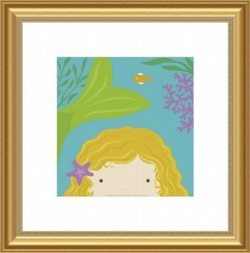 Barewalls Wall Decor by Yuko Lau, Peek A Boo Mermaid