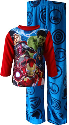 Marvel Comics Avengers Movie Image Fleece Pajamas for Little Boys (6) (Images Of America Ames compare prices)