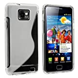 eFuture Frost Clear White S Shape TPU Cover Case For Samsung Galaxy S2 i9100 SII S II + Free eFuture Special KeyRing