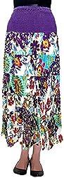 Cotton Breeze Women's Cotton Long Skirt (FP237, Purple)