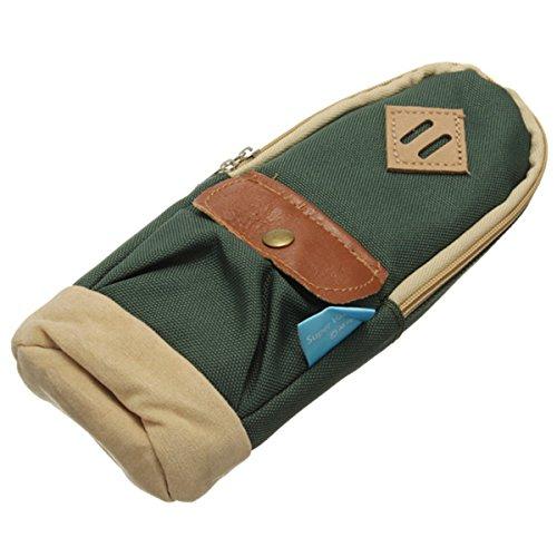 KingSo(TM) Mini Rucksack Bleistiftbeutel Bleistift Tasche Leinwand Tasche Make-up Tasche Gruen