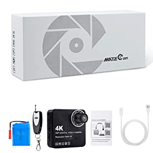 MATECam 4K DIY X1 Wireless Camera 120° Wide Angle Mini DVR Motion Detection Nanny Cam 4000mah Remote Control Security System up to 128GB (Color: 120° Wide Angle)
