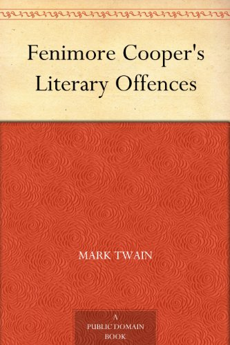 twain cooper essay To regard twain's essay as the final word on cooper shows lack of critical  understanding certainly, d h lawrence in studies in classic.