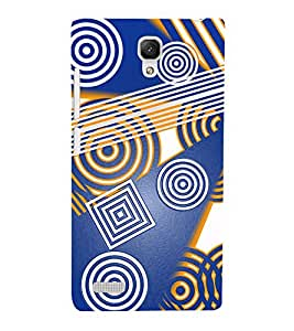 Vizagbeats Square and Circular Patterns Back Case Cover for Xiaomi Redmi Note
