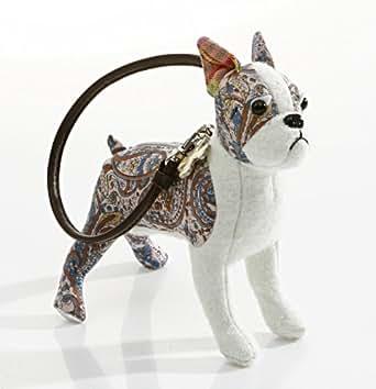 Pinwheel Boston Terrier Wristlet