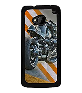 Fuson Premium Ready To Race Metal Printed with Hard Plastic Back Case Cover for HTC One M7