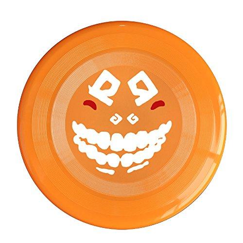 yque56-unisex-cute-face-outdoor-game-frisbee-sport-disc-orange