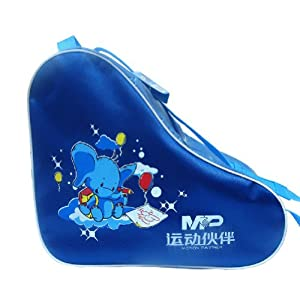 Blue Cartoon Children Skate Roller Derdy Tote Ice Skate Carry Bag Roller Sack