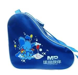 Blue Cartoon Children Skate Roller Derdy Tote Ice Skate Carry Bag Roller Sack