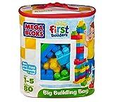 Mega Bloks Mega First Builders 80 Pce Big Building Bag Classic